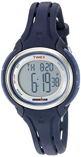Timex Ironman Digital Grey Dial Sleek 50 Dark Blue Silicone Strap Women's Watch