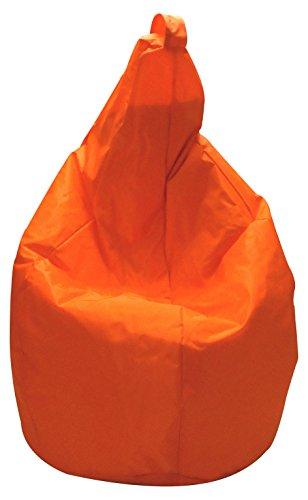 13Casa Nylon A1 Poltrona Sacco, Nylon, Plastica, Arancione, 120 x 80 x 80 cm