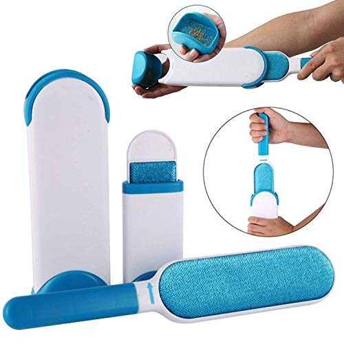 EAYIRA Double Sided Lint/Pet Hair Remover Brush with Self-Cleaning Base for Clothing, Furniture, Couch, Carpet
