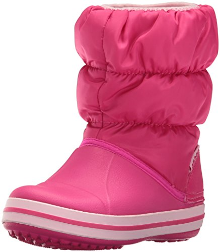 Crocs Winter Puff Boot Kids, Sneaker a Collo Alto Unisex - Bambini, Rosa (Candy Pink), 30/31 EU