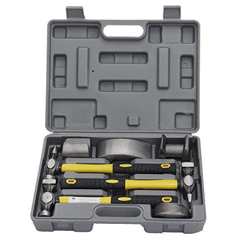 SPA 7 Pcs Auto Car Repair Kit Car Body Repair Tool Kit Dolly Tool Dent Repair Set Ki