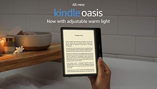 """All-New Kindle Oasis (10th Gen) - Now with adjustable warm light, 7"""" Display, Waterproof, 32 GB, WiFi + Free 4G (Graphite) 10"""
