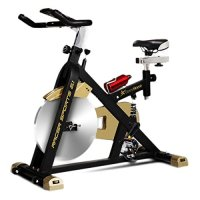 Fitness House Racer Sports Gold - Bicicleta de ciclismo indoor, color negro / dorado, tamaño única