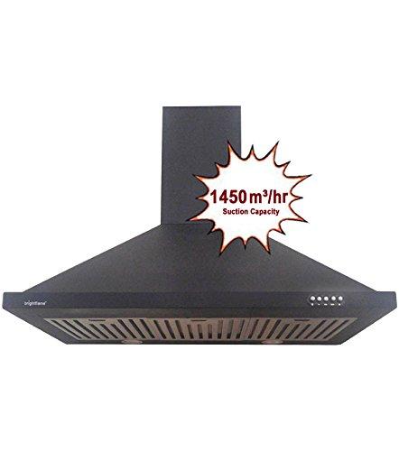 Bright Flame Kitchen Chimney - Aster(MS), Airflow : 1450 m³ / hr, In 90cm