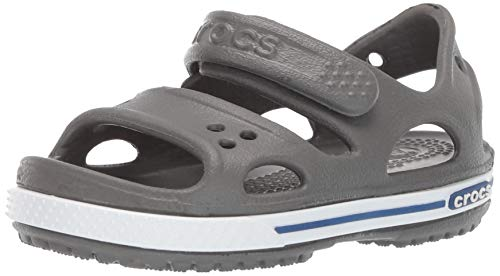 Crocs Crocband II Sandal PS K, Infradito Bambino, Grigio (Gris Ardoise/Bleu Jean 0Db), 23/24 EU