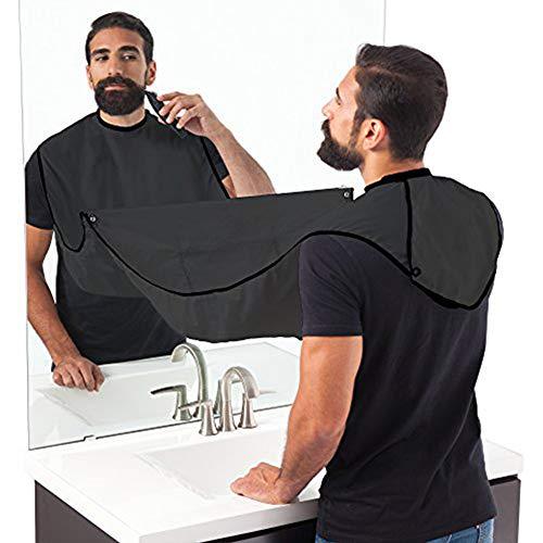 Aptoco Grembiule da barba, Bavaglino da barba, rasatura Barbier per facilitare la rasatura e non mettere alla regola peli nel lavabo. regalo ideale per l'uomo.