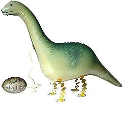 NUOLUX Animales papel globo dinosaurios herbívoros Mylar globos para cumpleaños decoración del partido los niños agradable juguete regalo