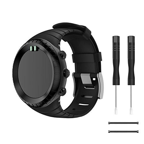 TOPsic Suunto CORE Watch Cinturino, Braccialetto di Ricambio in TPU Morbido con Gancio Metallico per Suunto CORE Smart Watch, per Polso 5.51'-9.06' (140mm-230mm)