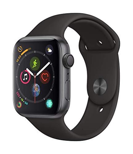 AppleWatch Series4 (GPS) con caja de 44mm de aluminio en gris espacial y correa deportiva negra