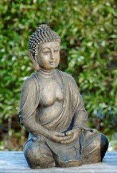 Figura de Buda sentado aprox 30 cm de resina decoración Feng Shui Dhunana-Mudra