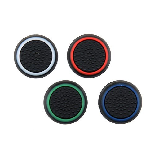 TCOS TECH Silicone Key Protector Thumb Grips Anti-Slip Silicone Cap Cover for PS4 PS3 Xbox One Xbox 360 Controller (4 Pcs)