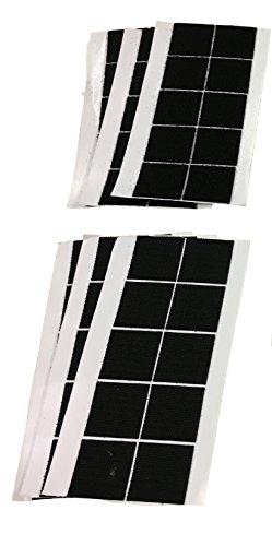 Promostrex 30Pares 40x 40mm Velcro Banda Stücke Autoadhesivo Pegatinas–30Ganchos & 30flojel Velcro Stücke Cuadrados–Práctico Y Útil En El Hogar, Taller, diseño etc. Juego Negro o Blanco