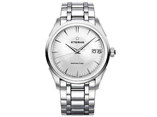 Eterna Heritage 1948 Legacy Big Date Automatik Uhr, Eterna 3030, 41,5mm, Silber