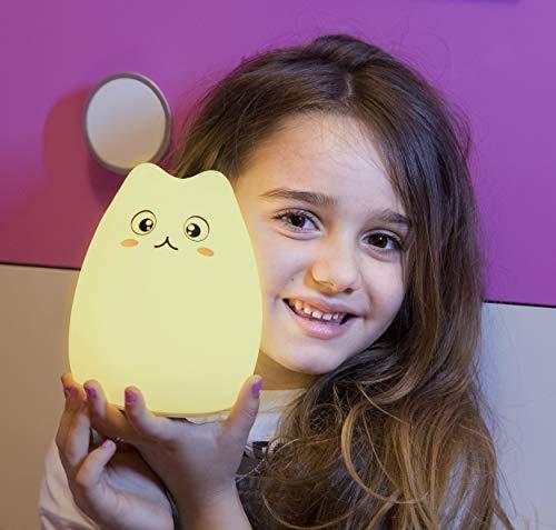 Luce Notte Bambini Led Multicolore - In Morbido Silicone - Idea Originale - Lampada Notturna Bimbi...