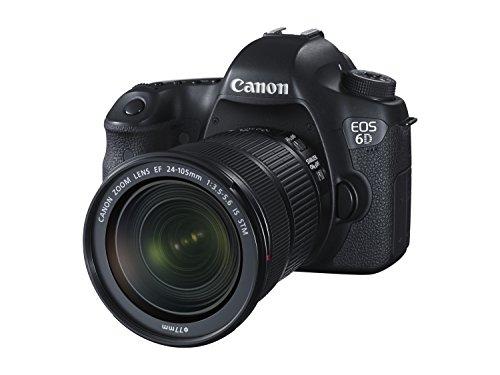 Canon - EOS-6D - Appareil Photo Numérique - Objectif 24-105 mm - 20,2 MP - Noir