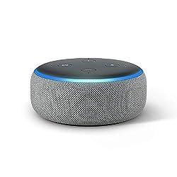 Kaufen Das neue Echo Dot (3. Gen.) Intelligenter Lautsprecher mit Alexa, Hellgrau Stoff