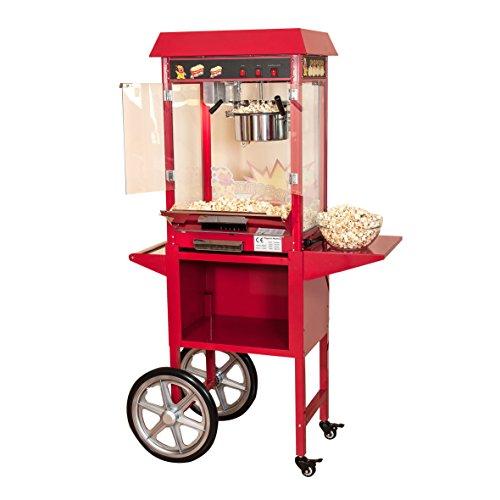 Pajoma 50115 Popcornmaschine Kirmes XXL mit Wagen, 2-teilig