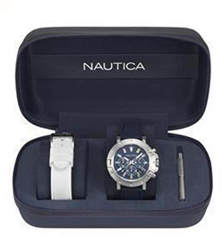 Nautica Orologio da Uomo Cronografo al Quarzo con Cinturino in Silicone – NAPPRH007