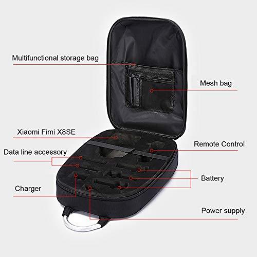 HKFV Coque PC étanche étanche à l'épaule Portable Boîte de Rangement Sac à Main Durable pour Xiaomi FIMI X8 Se Drone 25