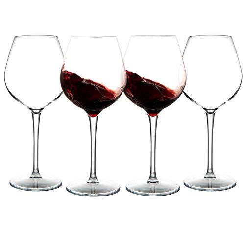 Michley Bicchiere da Vino Grande infrangibile, Bicchieri di plastica infrangibile tritan al 100% per...