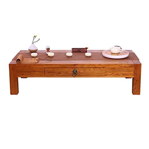 Tavolini da caffè Tavolino Tavolino Tavolino con Cassetti Vecchio Olmo Tavolo da Esterno in Stile...