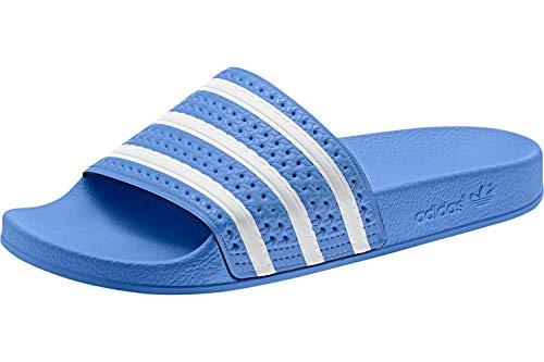 adidas Adilette, Scarpe da Scogli Uomo, Multicolore Ftwr White/Real Blue Ee6181, 43 1/3 EU