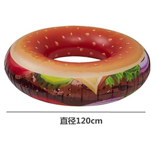 Anello di nuoto dell'hamburger adulto, fila galleggiante gonfiabile di personalità del PVC, anello...