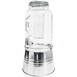 Balvi Dispensador de Bebida Drink Color Transparente con infusor y peana Capacidad: 5,6L Cristal