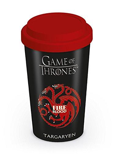 Game of Thrones – Taza de viaje de Juego de Tronos de la Casa Targaryen, multicolor