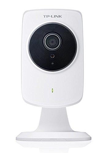 TP-Link NC250 Videocamera di Sorveglianza Cloud Wi-Fi Giorno/Notte, 300 Mbps, Risoluzione 720p HD, Rilevamento Suono e Movimento, Bianco