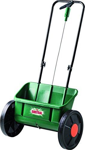 Substral EvenGreen Kastenstreuwagen, Hochwertiger Streuwagen mit leichtgängigen, großen Rädern zum ausbringen von Dünger, Samen und Kalk