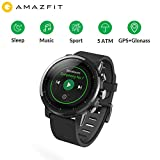Huami AMAZFIT Stratos 2 Montre de Sport Intelligente Suivi de la santé Smartwatch de Natation (5ATM étanche 2.5D Écran GPS + Musique Glonass Bluetooth Mi Fit App)