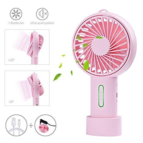 Ventilatore tascabile ventilatori USB mini ventilatore portatile, USB Mini Ventilatori da Tavolo da...