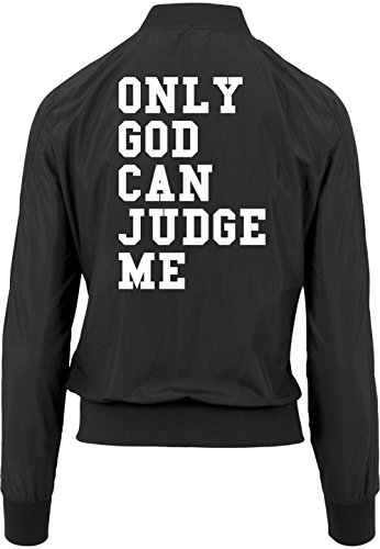 Only Good Can Judge Me Bomber Giacca Girls Nero Certified Freak-S