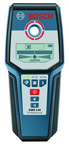 Bosch Professional 601081000 GMS 120 Rilevatore Digitale, profondità di Rilevamento Max. Acciaio/Rame/Cavi 120/80/50 mm, 9 V, Nero/Blu