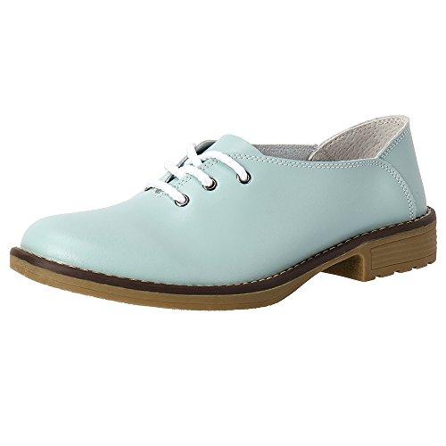 5c020cf48850 Aleader Women s Lace-up Flat Shoes Comfort Leather Ladies Ballet Flats