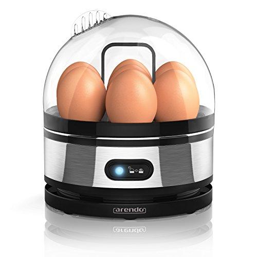 Arendo - Cuiseur à oeufs avec fonction maintien de la température « Sevencook »  Egg cooker   commutateur de fonctions de basculement avec voyant lumineux   degré de dureté réglable   signal acoustique   400 W   trempe de 1-7 oeufs   nettoyage facile   BPA-FREE !