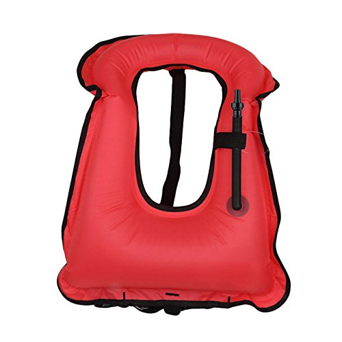 Leoie Inflatable Snorkel Vest Portable Adult Life Jackets for Swimming Drifting Surfing Water Sports Safety