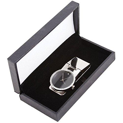 Cristallo Swarovski rotondo orologio fermasoldi