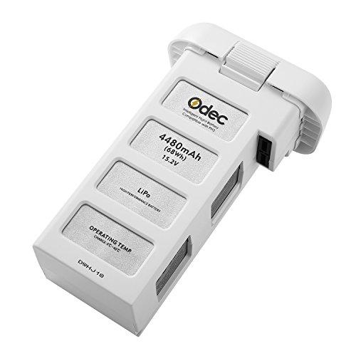 Odec Batteria per DJI Phantom 3 Standard, DJI Phantom 3 Professionale, DJI Phantom 3 Avanzato, DJI Phantom 3 SE e 4K Drone, 15,2V 4480mAh Batteria Li-Polymer - Aggiornata