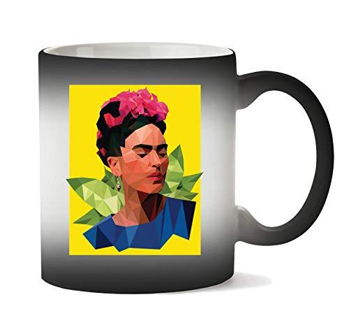 1GD Frida Kahlo Triangle Taza Calor Cambio De Color