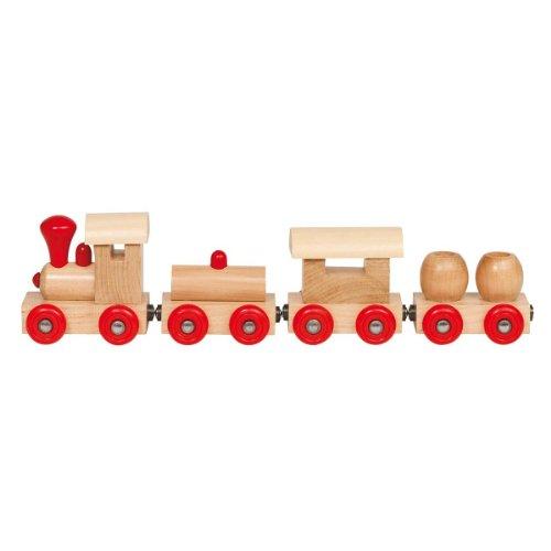 Handelshaus per Bambini in Legno Magnetico Trenino–Naturale