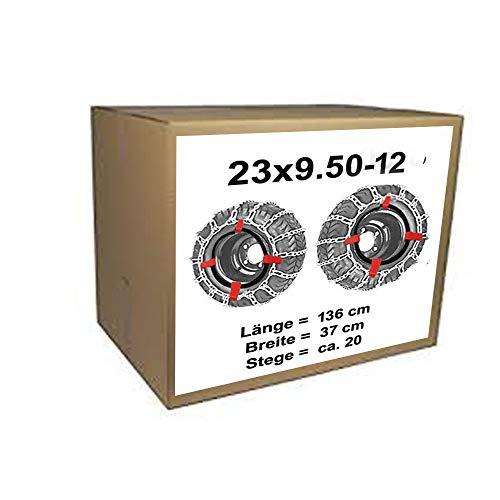 23x 9.50–12Cadenas de nieve + Tensor para tráctor Segadora, 23x 9.50–12