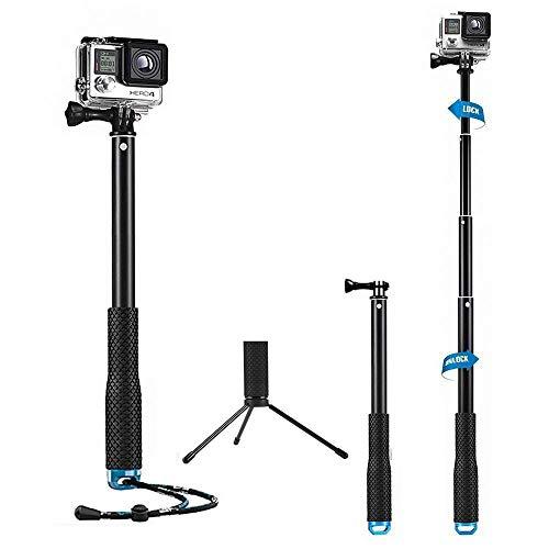 Mystery 43' Bastone Selfie Telescopico Monopiede Pole Impermeabile e Regolabile per GoPro 5/4/3 +/3/2/1 Xiaomi Action Camera