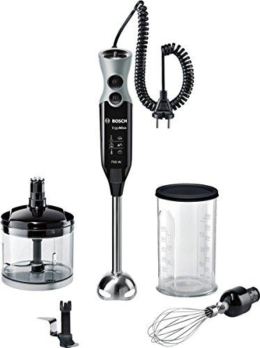 Bosch MSM67170 Mixer a Immersione, 750 W, 1 litro, 50 Decibel, Plastica, Nero/Grigio