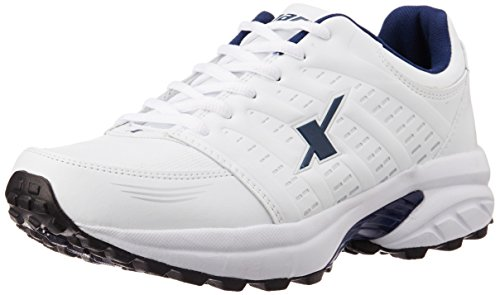 Sparx Men s White and Navy Blue Running Shoes – 9 UK d4ec95a37