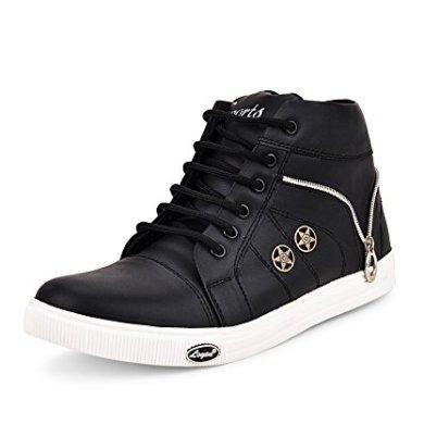 Essence Men's Vc 3101 High Top Synthetic Shoes - Black 21
