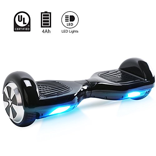 "BEBK Hoverboard, 6.5"" Self Balance Scooter mit 2 * 350W Motor, LED Lights Elektro Scooter (N1-Schwarz)"