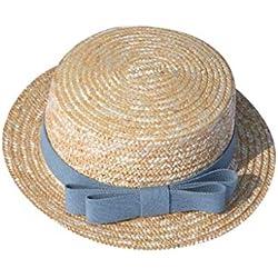 zarupeng✦‿✦ Verano Madre e hija Mujer Sombrero de paja Sombrero Gorro para el sol Bebé niña Viaje Playa Ala plana Sombrero