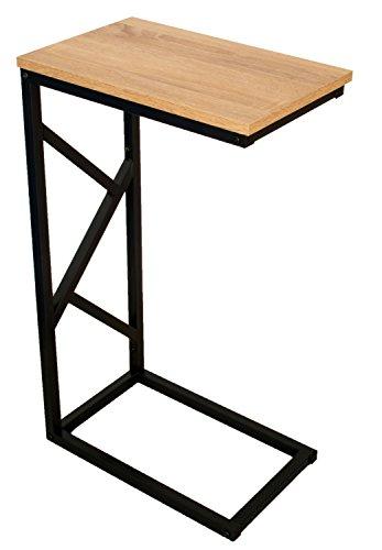 Tavolino bonVIVO GIORGIO, in stile moderno, effetto legno, struttura in acciaio nero